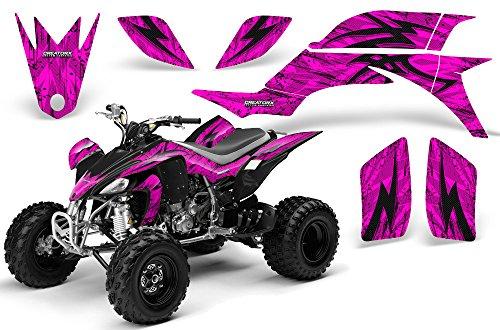 CreatorX Yamaha YFZ 450 03-13 Atv Graphics Tribal Bolts Pink