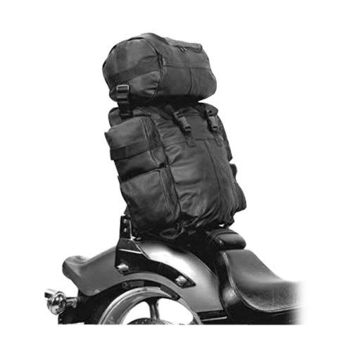 Expandable Leather Motorcycle Luggage Sissy Bar Bag  Bike Riding Backpack SB1