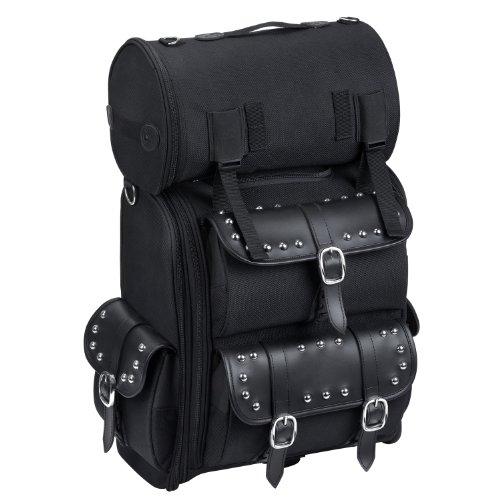 Viking Studded Leather Motorcycle Sissy Bar Bag