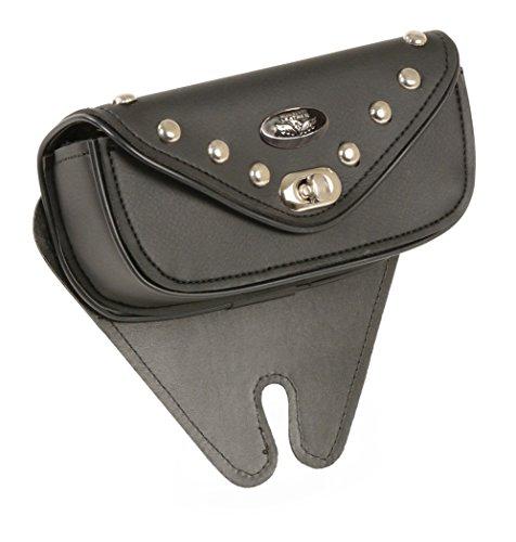 Small Black PVC Vinyl Motorcycle Windshield Bag