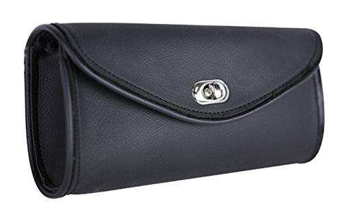 Waterproof Black Motorcycle Windshield Bag with Plain Trim