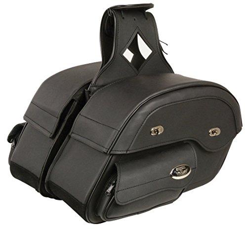 Milwaukee Leather MP8306-BLK-PCS Black Saddle Bag