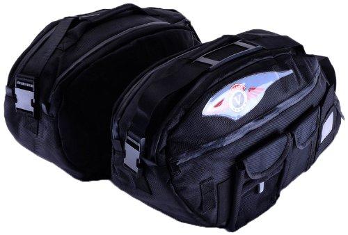 Bestem LGKA-NOMAD-SDL-D Black Deluxe Saddlebag Liners for Kawasaki Vulcan Nomad Pair