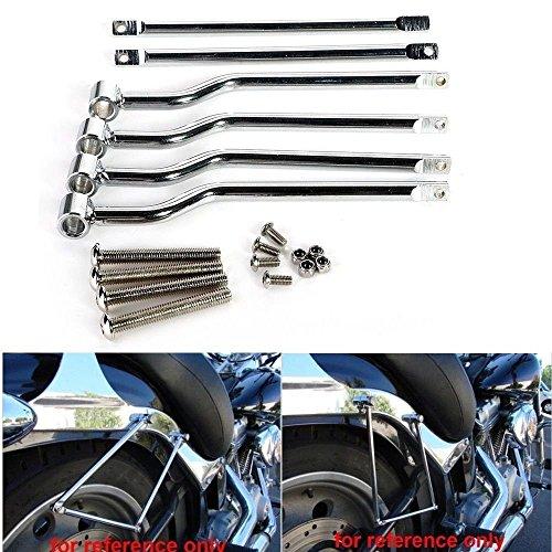 Triclicks Chrome Saddlebag Support Bar Fits Honda Rebel CMX 250 Shadow ACE VT750 400