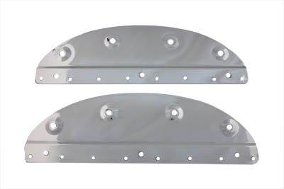 V-Twin 48-0176 Chrome Saddlebag Mount Plate