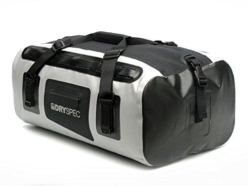 DrySpec 112605 D38 Grey Rigid Waterproof Motorcycle Dry Bag - 38 L Capacity