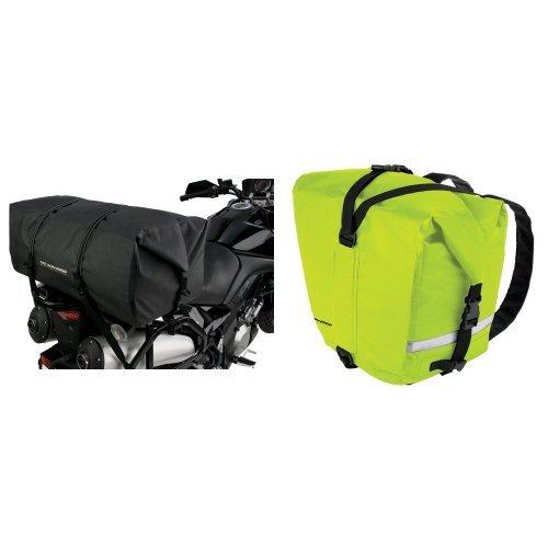 Nelson-Rigg SE-2020-BLK Black Large Adventure Dry Bag and  SE-2055-HVY Hi-Visibility Yellow Adventure Dry Saddlebag Bundle