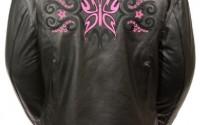 Milwaukee-Women-s-Leather-Jacket-black-fuschia-hot-Pink-Xx-large-5.jpg